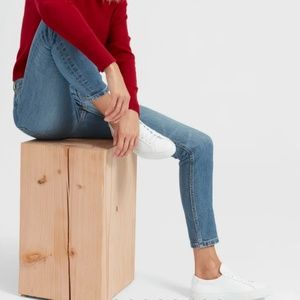 Everlane The Mid-Rise Skinny Jean in Mid-Wash